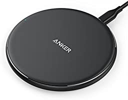 Wireless Charger, Anker Qi-Certified Ultra-Slim Wireless Charger Compatible iPhone Xs Max/XS/XR/X/8/8 Plus, Galaxy S9/S9+/S8/S8+/Note 8 and More, PowerPort Wireless 5 Pad (No AC Adapter)