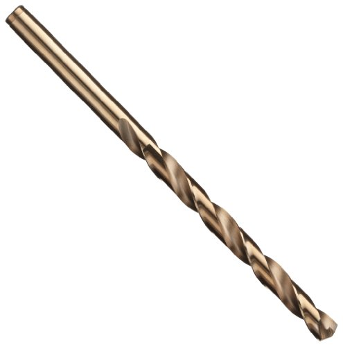 (Precision Twist R18CO Cobalt Steel Jobber Drill Bit, Bronze Oxide Finish, Round Shank, Spiral Flute, 135 Degree Point Angle, 3 (Pack of 12))