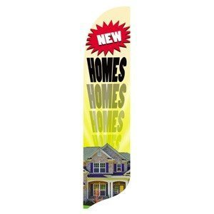 2' x 11' New Homes Quill Feather Flag Kit by All Star Flags by All Star Flags