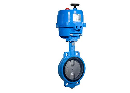 1-1/2'' Bonomi E500S - Wafer Stlye, Epoxy Coated Cast Iron, Stainless Steel Disc, Butterfly Valve, with Electric Actuator by Bonomi valves