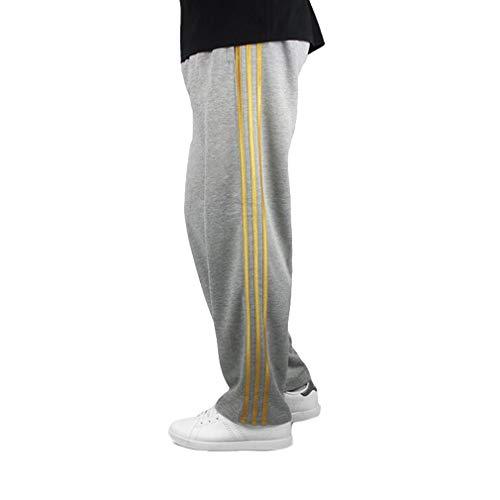 Plus Mode Fitness Taille Loisirs La Avec Confortable Elastique De Respirant 2 Poches Pantalon Largos Sport Or Rayé Sports Jogging Pour Homme qw4T14