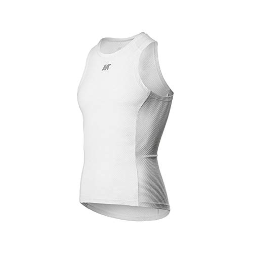 - Mysenlan Men's Sleeveless Shirts Base Layer Bike Undershirt Breathable Superlight Sports Vest Cycling Running Tank Tops White L