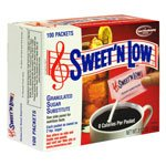 Sweet n' Low, Granulated Sugar Substitute, Packets - 120 packets, Pack of 6