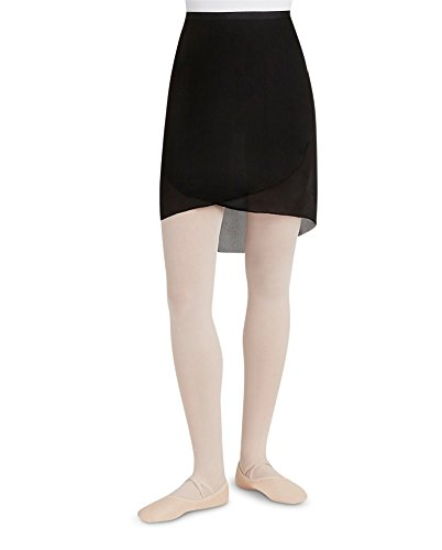 Capezio Women's Georgette Wrap Long Skirt BLACK (Capezio Womens Skirt)