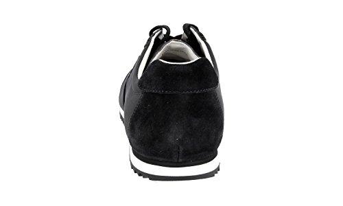 Prada Heren 4e2834 Oqt F0002 Lederen Sneaker