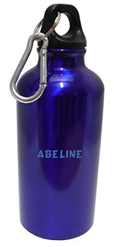 Flasque bouteille d'eau avec le texte Abeline (Noms/Prénoms)