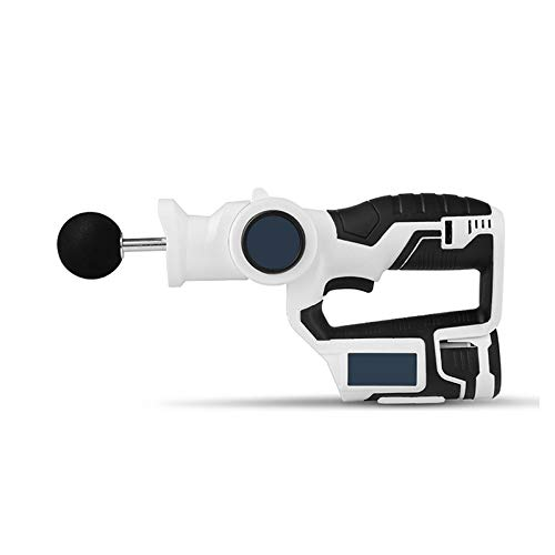 Massage Gun - Chiropractic Massager with Multiple Heads - Trigger Point Massager - Jigsaw Massager - Portable, Rechargeable Massage Device with 6 Variable Speeds