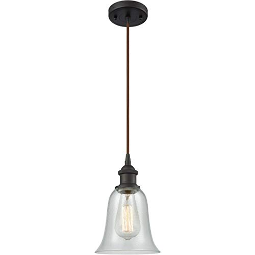 Mini Pendants 1 Light Fixtures with Oil Rubbed Bronze Finish Cast Brass Glass Material Medium 6