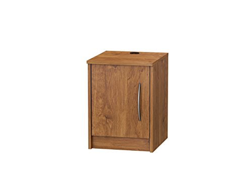 Bamboo Set Nightstand (Finch 1 Door Nightstand, 1 open compartment behind doors (Bank)