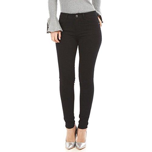 La Modeuse - Jeans Coupe Slim Femme Noir