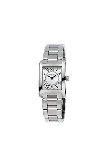 Frederique Constant Women's 'Carree' Swiss Quartz Stainless Steel and Leather Casual Watch, Color:Silver-Toned (Model: FC-200MC16B)