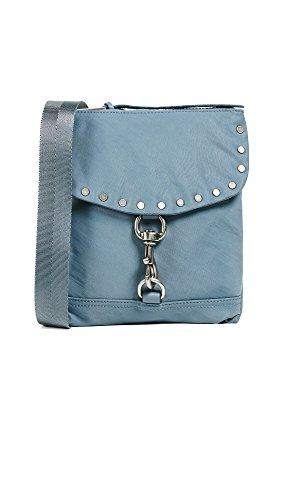 Rebecca Minkoff Women's Nylon Flap Cross Body Bag, Dusty Blue, One Size