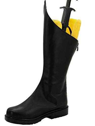 GOTEDDY Robin Boots Halloween Cosplay Black Leather Zipper Costume Shoes]()