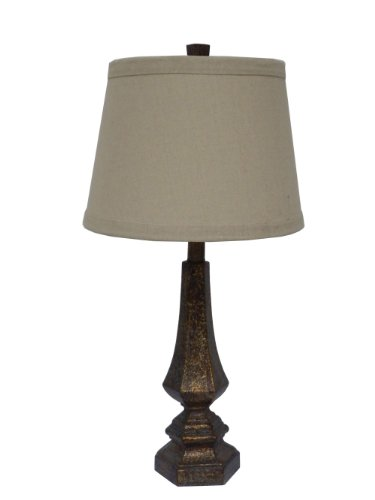 Fangio Lighting 6170 Resin Table Lamp, 26-Inch, Antique Gold Finish - Fangio Lighting Resin
