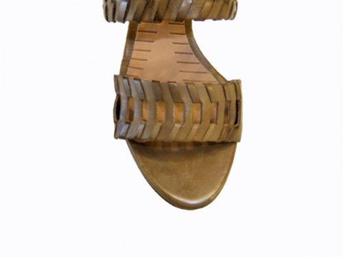 Spiral Damen Plateau Sandalette Leder 2405 beige-braun Braun