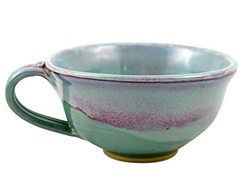 American Made Orchid Green Pottery Collection: 20-oz Chowder/Soup Mug