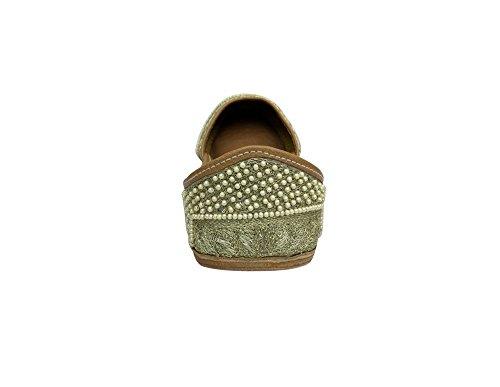 Step n Style , Damen Sandalen cremefarben/goldfarben