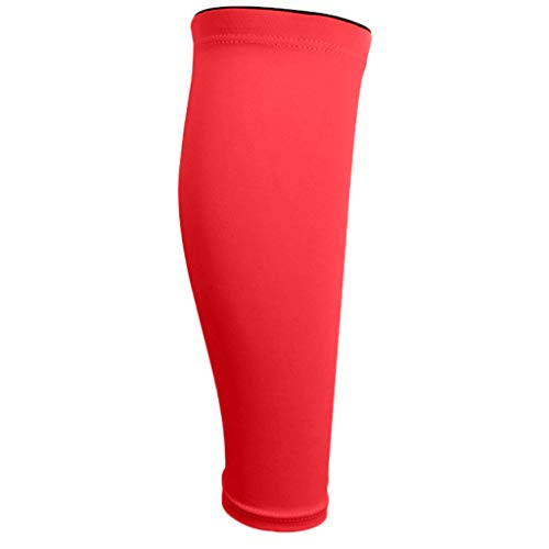 SEXYTOP Outdoor Under Pants Conceal Sleeves Leg Compression Socks for Shin Splint Calf Pain Relief Ankle Protective Guards Red (Best Shin Pads For Defenders)