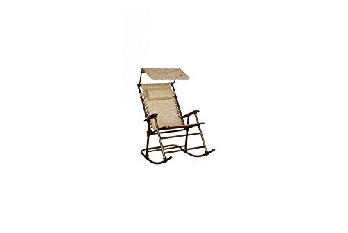 Bliss Hammocks Hammock - Bliss Hammocks GFR-091SR Outdoor Rocking Chair with Canopy, Jacquard