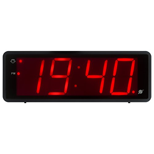 Kwanwa Digital Alarm Clock Large Display With 1.8'' LED Numbers, Battery Operated Only, 12/24H Time Display, Snooze And Loud Alarm by Kwanwa