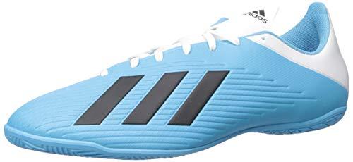adidas Men's X 19.4 Indoor Soccer Shoe, Bright Cyan/Black/Shock Pink, 10 M US