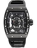 Relojes de acero inoxidable para los hombres, Mens resistente al agua Cronógrafo Business Casual muñeca reloj de cuarzo, 5146black