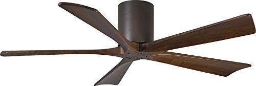 Matthews Fan Company Matthews IR5H-TB-WA-52 Irene 52 Outdoor Hugger Ceiling Fan, inch, Textured Bronze-walnut Tone Blades