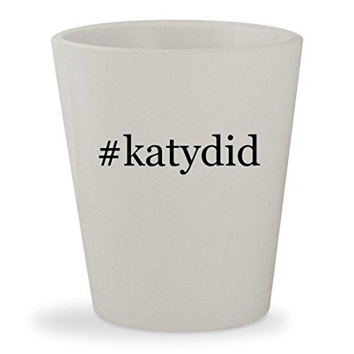 #katydid - White Hashtag Ceramic 1.5oz Shot Glass