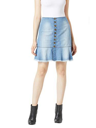 Miss Chase Denim a-line Skirt