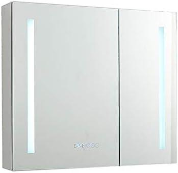 ミラーキャビネット ドア壁付きキャビネット照光カスタム浴室医学ミラーキャビネット浴室キャビネットをマウント (Color : Silver, Size : 70x70x14cm)