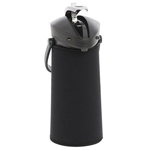 JavaSuits Airpot CoverThermal Coffee Dispenser Cover Black Neoprene for 2.2L - 12