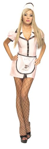 Secret Wishes  Costume 50S Soda Pop Girl Adult Costume, Multi, X-Small
