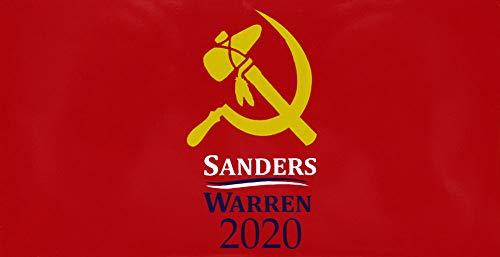 Trade Winds Wholesale Lot of 6 Sanders Warren 2020 Hammer & Sickle Decal Bumper Sticker