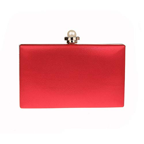 Annual Fashion Pearl Clutches Red Venetian Meeting Clutch Lovely Evening Bag Banquet Hand Rabbit Bag Bqv54g1w