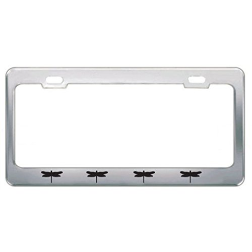 Speedy Pros Dragon Fly Bugs Metal License Plate Frame Tag Border