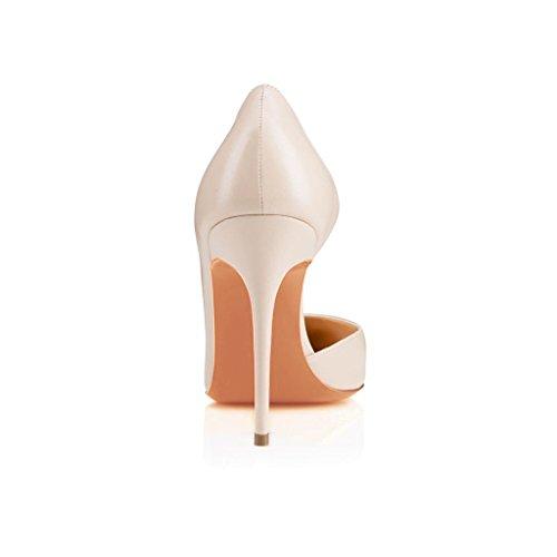 Arc-en-Ciel zapato de tacón alto zapatos de charol de las mujeres Beige