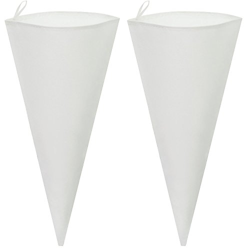 Cake Decorating Bags - 2-Piece 18 Inch Cotton Canvas Frosting Icing Piping Bag for Pastry, Cakes, and Cupcakes