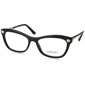 Versace VE3224 Eyeglass Frames GB1-54 - Black VE3224-GB1-54