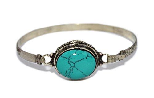 (Handmade Bracelet Turquoise Bracelet Yoga Bracelet Nepal Bracelet Tibetan Bracelet Gypsy Bracelet BB201)