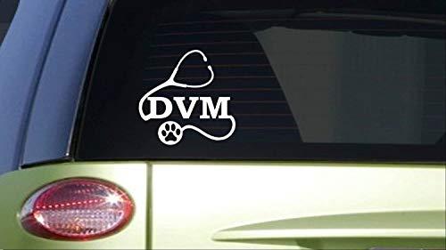 BrandVinyl DVM 8 inch Sticker Decal Doctor Vet tech Animal Dog cat wormer ()