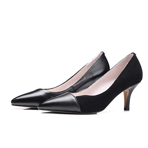 Noir AN Noir 36 EU Femme Sandales Compensées 5 DGU00786 qrzw1IrHA