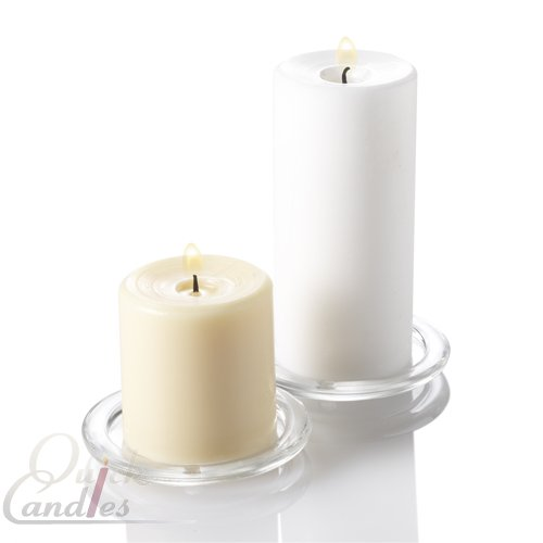 Eastland Round Glass Pillar Candle Holder Set of 6