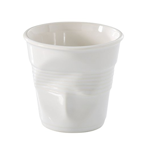 Revol Froisses White Porcelain 6.25 Ounce Crumpled Cappuccino ()