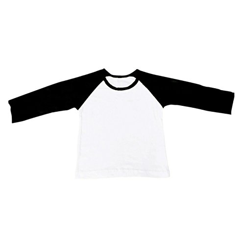 CloudCreator Unisex Toddler Raglan Long Sleeve Cotton Shirt Jersey T-Shirt Tees For Kids Baby Girl Boy (Heart Jersey Baseball)