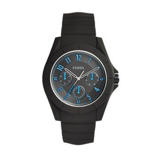 Fossil-Mens-Quartz-Rubber-and-Silicone-Casual-Watch-ColorBlack-Model-FS5222
