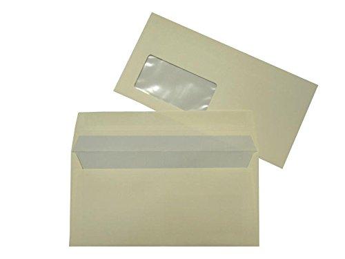Farbige Briefhüllen   Premium   110 x 220 mm (DIN Lang) mit Fenster   Creme (500 Stück) mit Abziehstreifen   Briefhüllen, KuGrüns, CouGrüns, Umschläge mit 2 Jahren Zufriedenheitsgarantie B01CGKCRK2 | Leicht zu reinigende Oberfläche  |