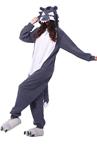 Wolf Cosplay Kigurumi Costume Pajama Adulto Animal Unisex qwxT8Y