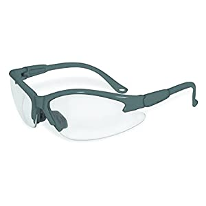 SSP Eyewear Safety Glasses with Grey Frames & Clear Anti-Fog Shatterproof Lenses, COLUMBIA GRY CL A/F