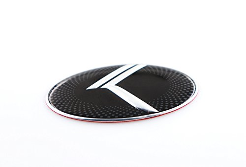 NEW VINTAGE K Steering Wheel Emblem Badge Overlay FOR KIA MODELS (LODEN) ()