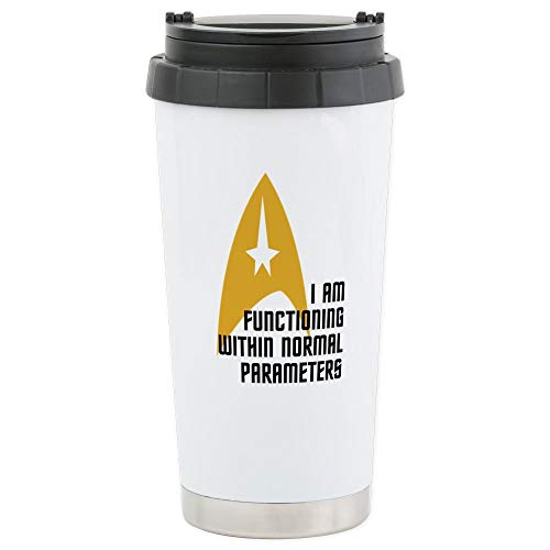 CafePress Star Trek Normal Para Stainless Steel Travel Mug Stainless Steel Travel Mug, Insulated 16 oz. Coffee Tumbler